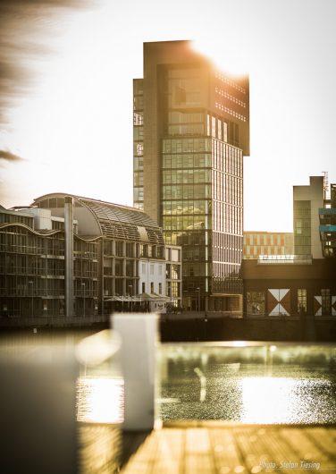 Düsseldorf DOCK on a warm summer evening