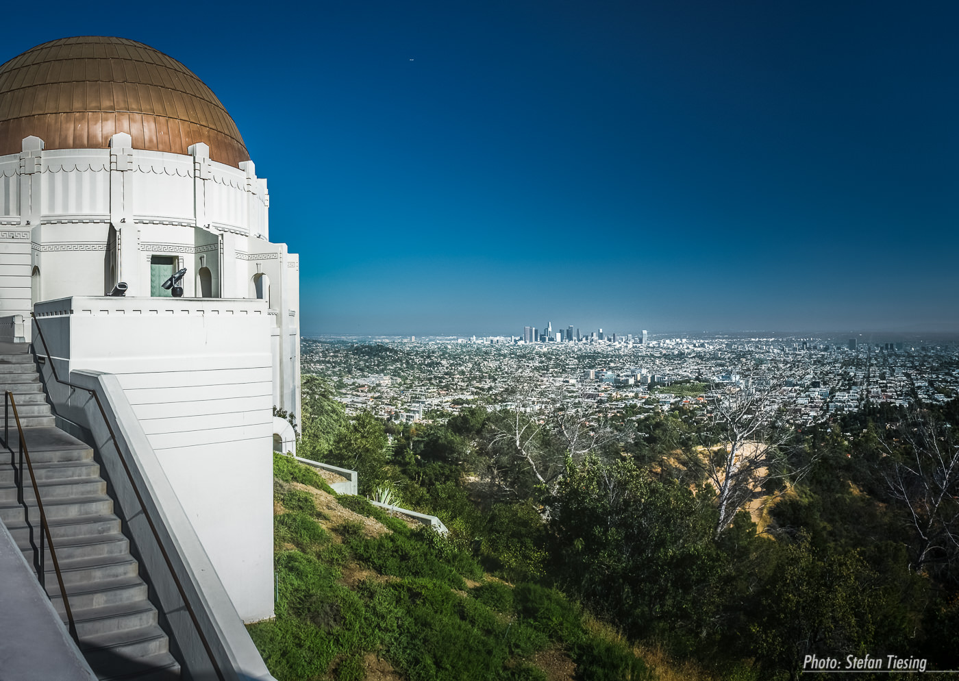 Griffith Observatory and View over Los Angeles