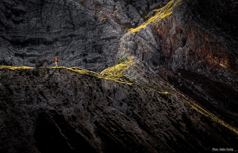Mossy Highlights & red Hiker