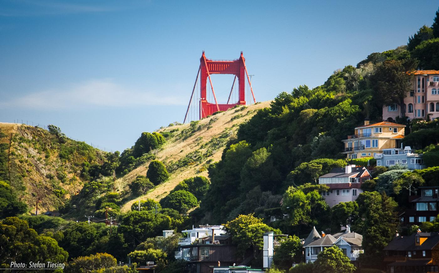 Sunken Bridge (Golden Gate Bridge View from Sausalito)
