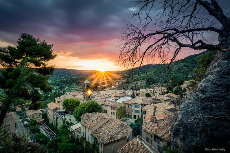 Sunset over Moustiers-Sainte-Marie