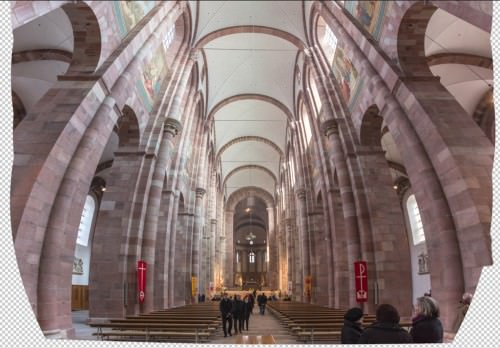 Nave of Speyer Cathedral (MakingOf) 04