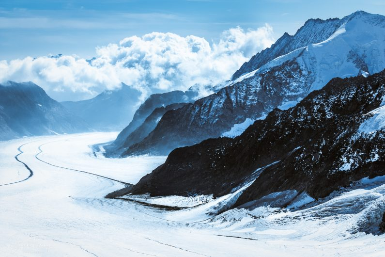 Aletsch Glacier downhill