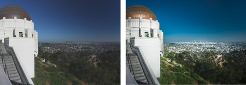 Griffith Observatory and View over Los Angeles (MakingOf) 03