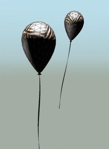 Zebra & Balloons (MakingOf) 2