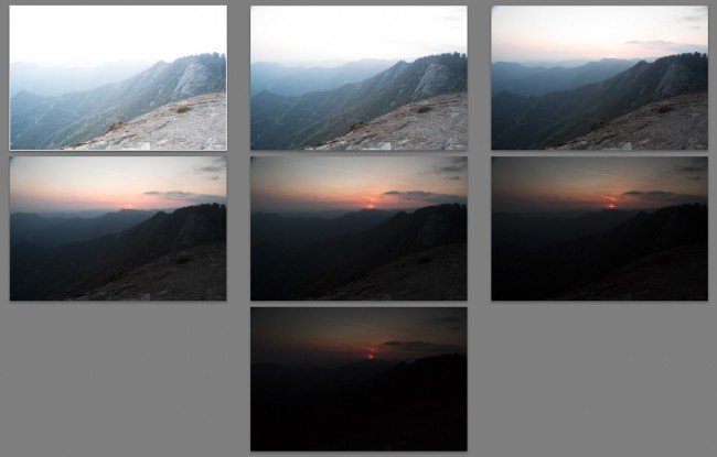 Sunset at Moro Rock (Sequoia National Park) - MakingOf 02