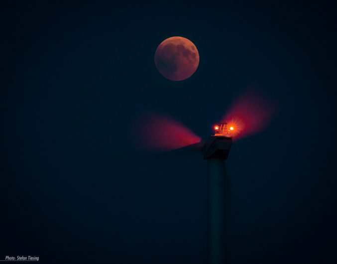 Blood Moon and the Windmill