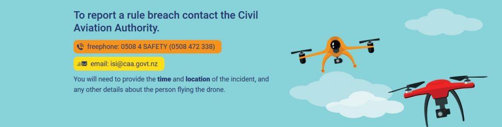 Melde eine illegale Drohne in Neuseeland