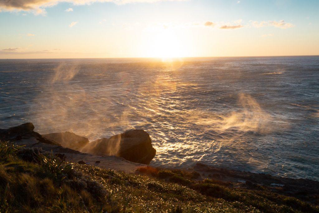 Sturm am Morgen am Castlepoint Lighthouse