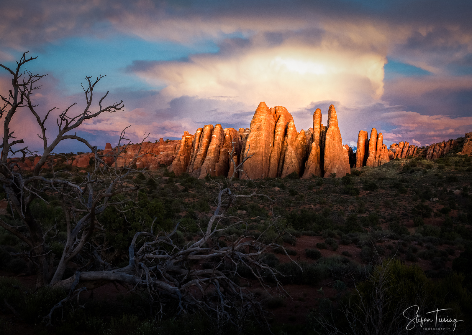 Sunset at Arches National Park
