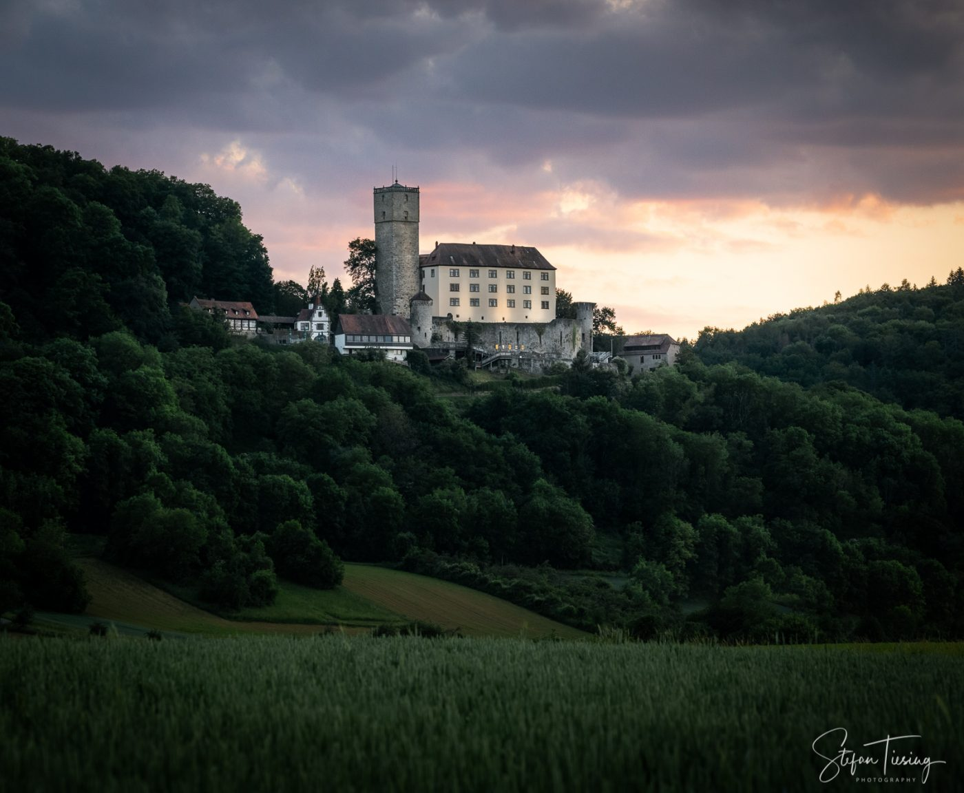 Burg Guttenberg Sunset