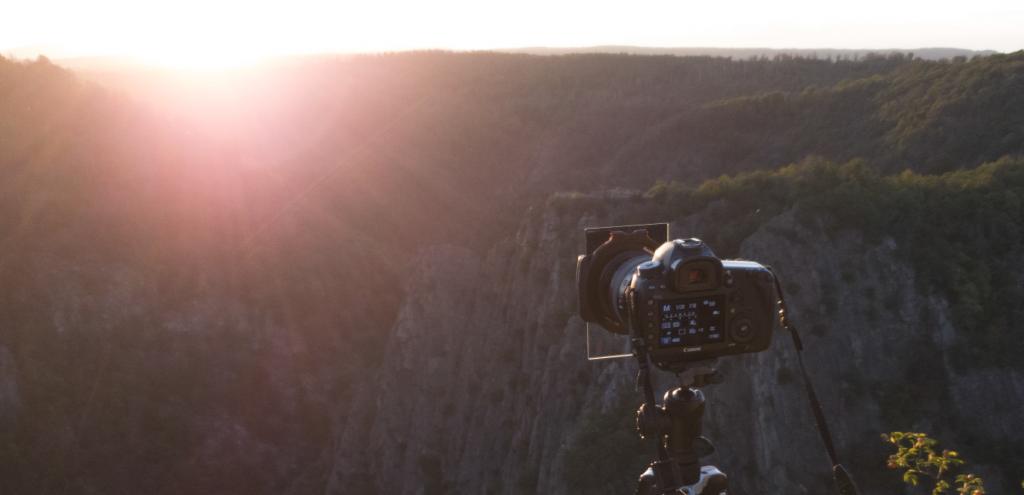 Eine Kamera mit Grauverlauffilter