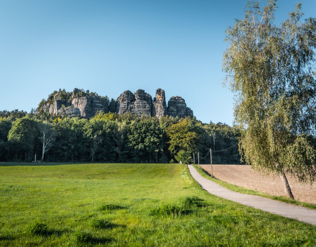 Der Pfaffenstein in der Sächsischen Schweiz