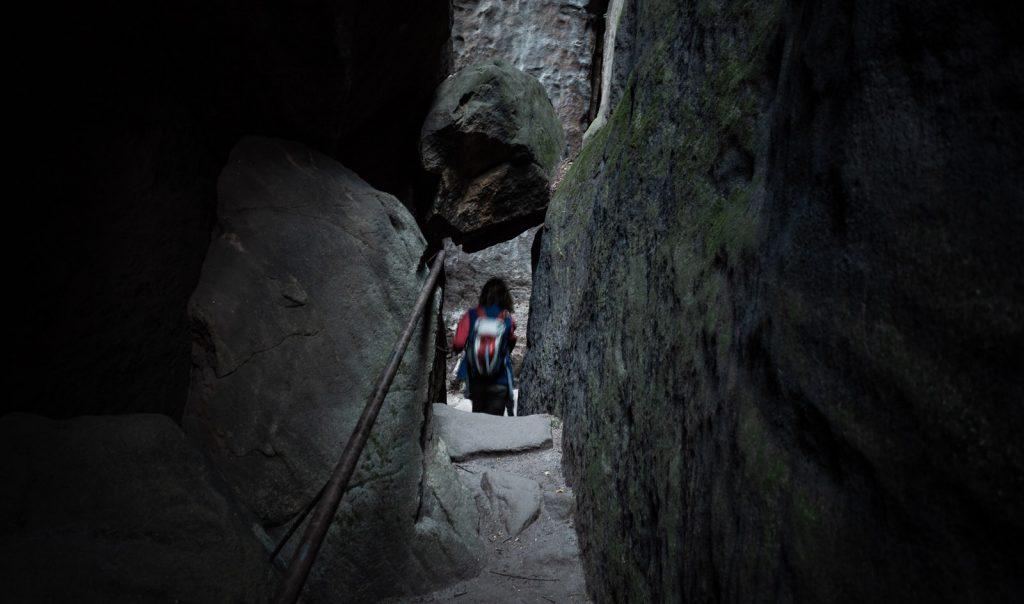 Fallbeil auf dem Weg auf den Pfaffenstein