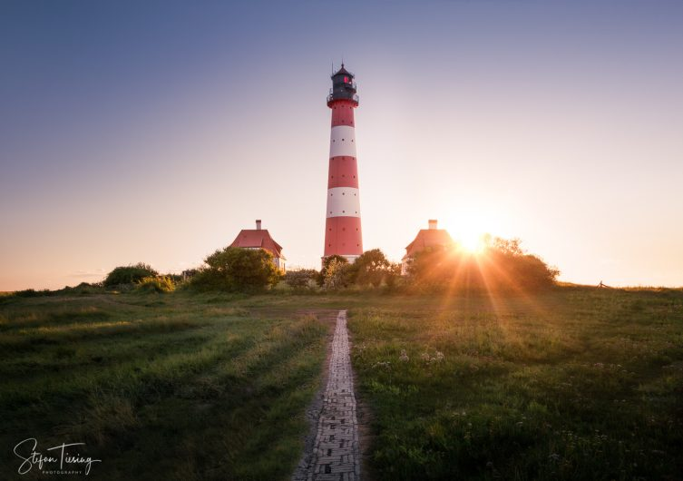 Lighthouse Westerheversand Sunset