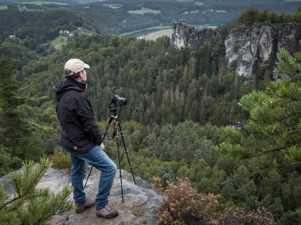 Fotograf in der Sächsischen Schweiz