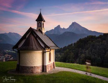Kirchleitn Kapelle mit Watzmann