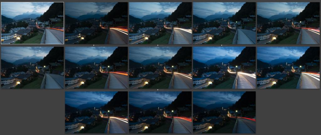 Langzeitbelichtungen von Berchtesgaden mit dem Watzmann im Hintergrund