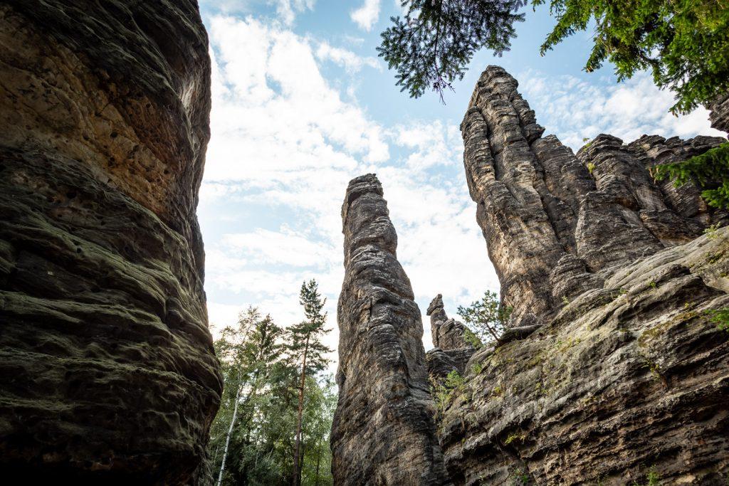 Die Herkulessäulen in der Sächsischen Schweiz
