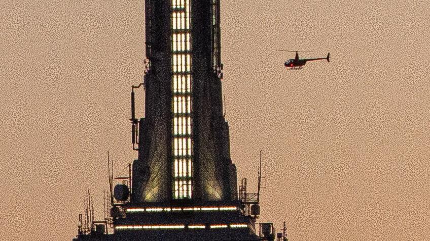 Verrauschter Bildausschnitt von der Spitze des Empire State Building