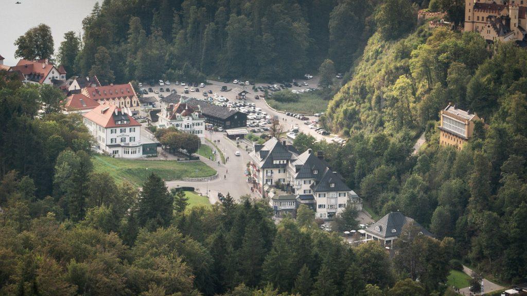 Parkplatz unterhalb des Schloss Hohenschwangau