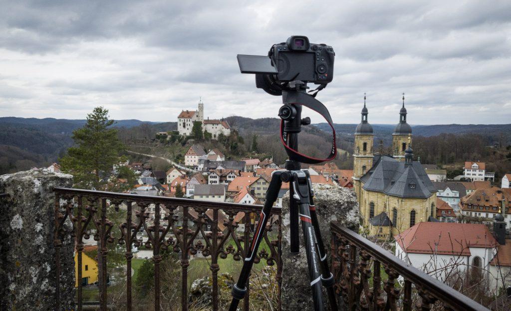 Blick vom Aussichtspunkt zur Burg Gößweinstein