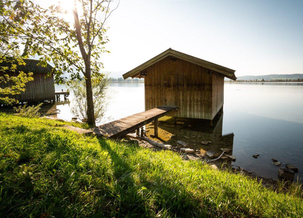 Ein Bootshaus am Kochesee