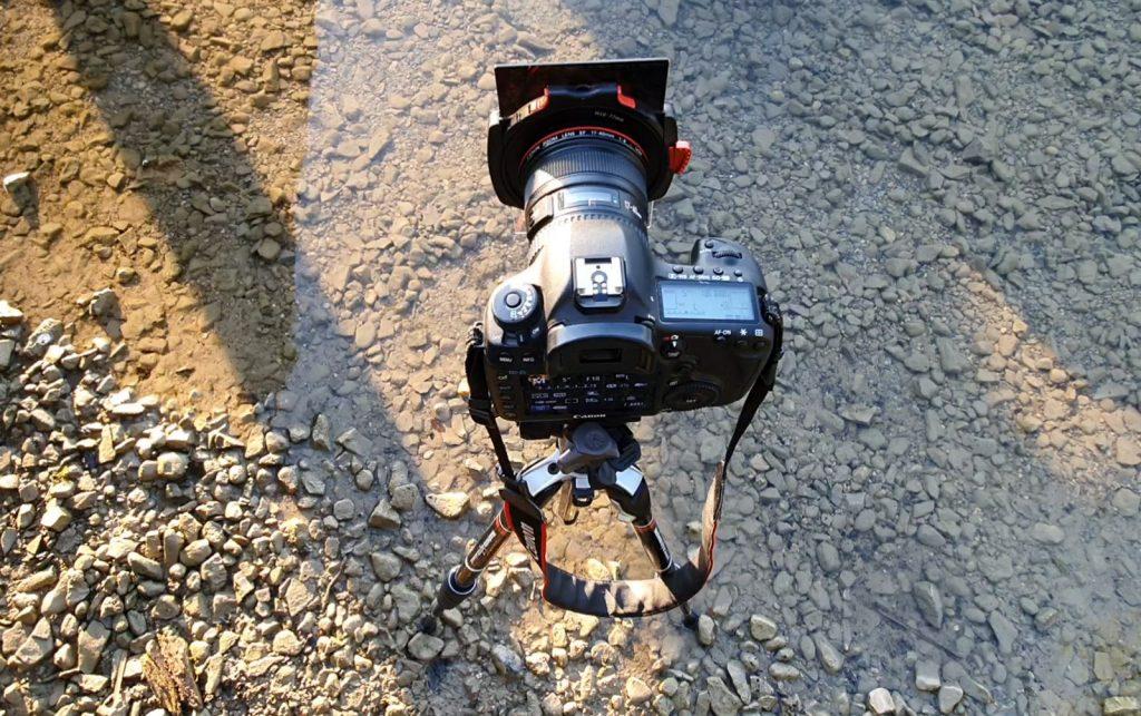 Kamera mit ND-Filter im Kochelsee