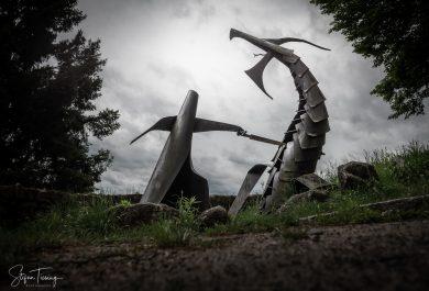 Skulptur Siegfried und Fafnir bei Burg Lindenfels