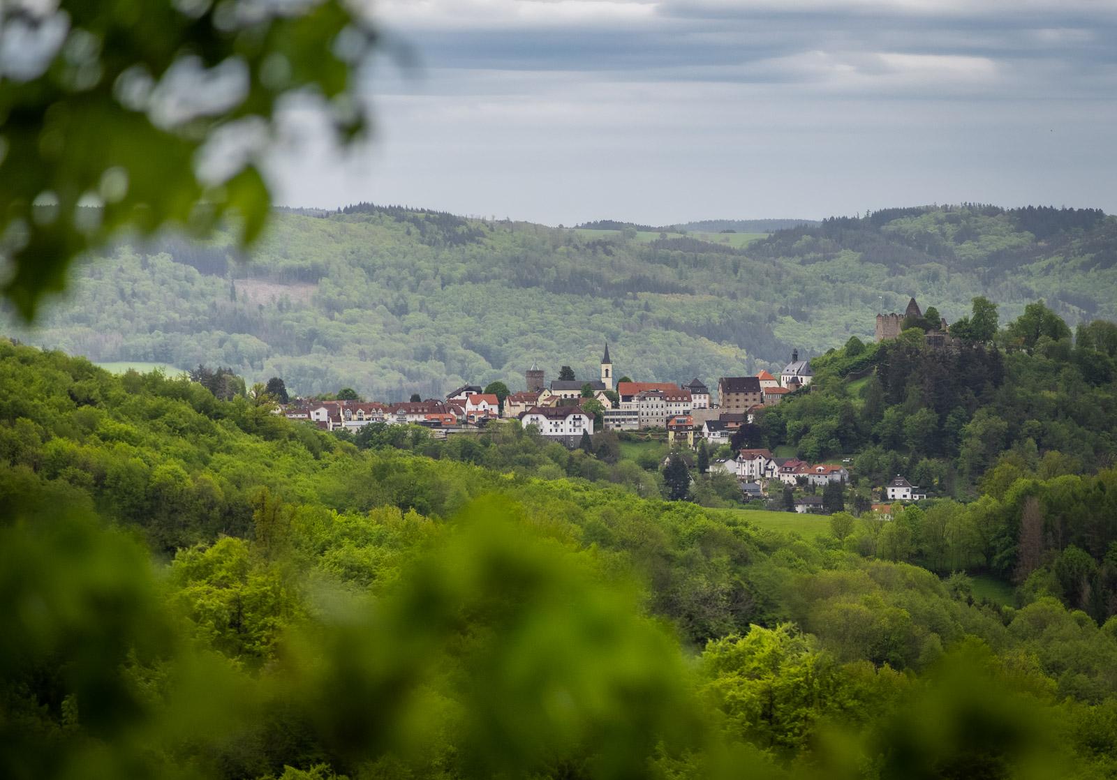 Der Ort Lindenfels im Odenwald